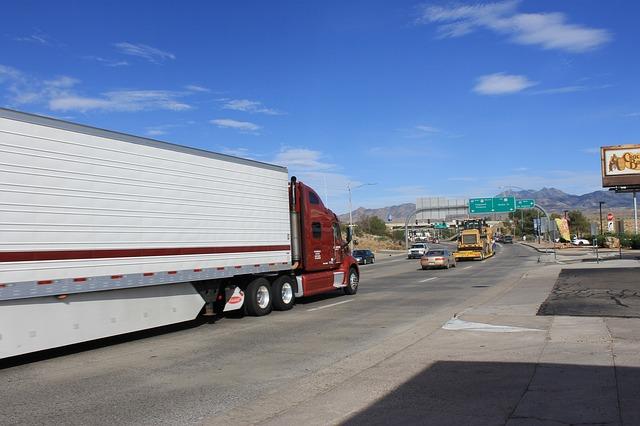přeprava nákladu v USA