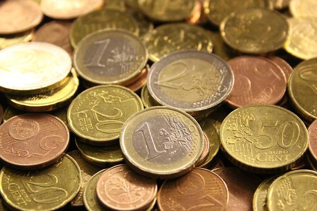 euro mince, centy