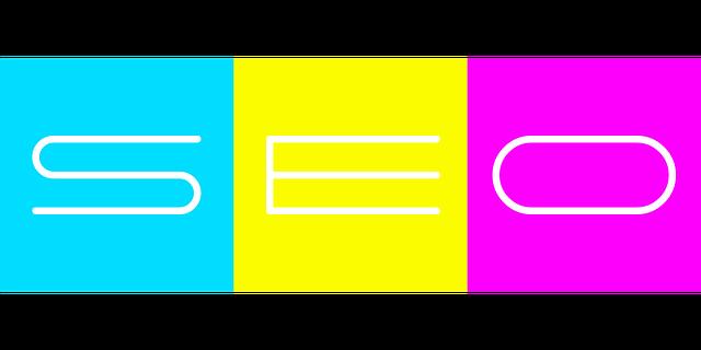 nápis SEO na barevném podkladě