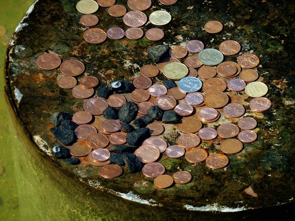 mince v kašně